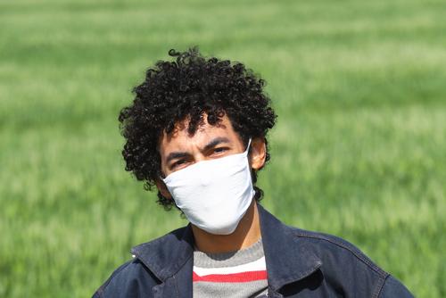 Uso de máscara de proteção